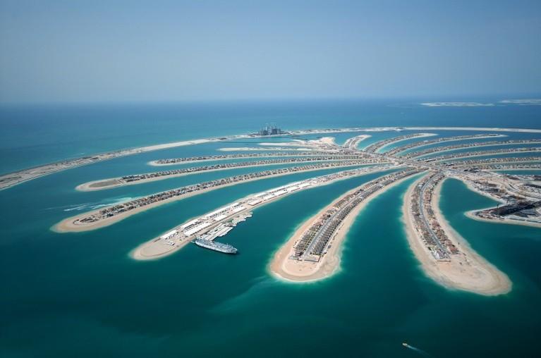 Widok na Wyspy Palmowe, Dubaj