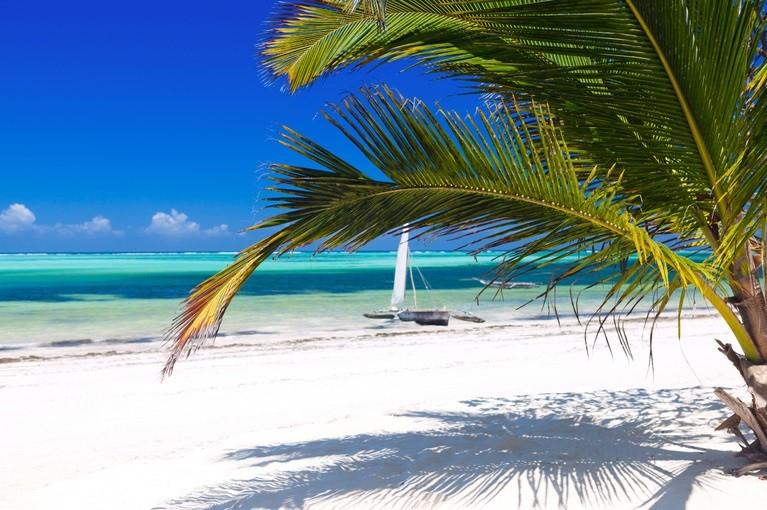 Piaszczyste plaże w Zanzibarze